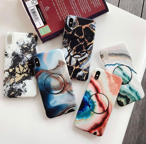 The Marble Tint Slim With Holder Case - Kalakaar Indiaa