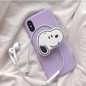 Violet Slim Case Cover With Dog Holder - Kalakaar Indiaa