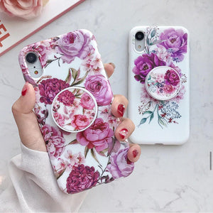 Hue Blossom Slim Case Cover With Holder - Kalakaar Indiaa