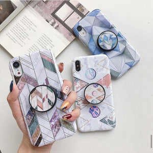 The Marble Abstract Slim Case Cover With Holder - Kalakaar Indiaa