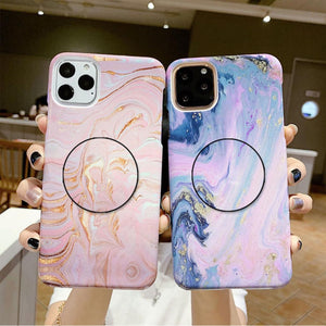 The Pink And Blue Marble Slim Case Cover - Kalakaar Indiaa