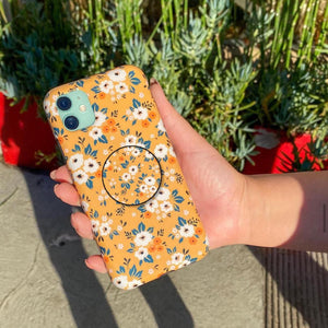 Retro Floral V2 Slim Case Cover With Holder - Kalakaar Indiaa