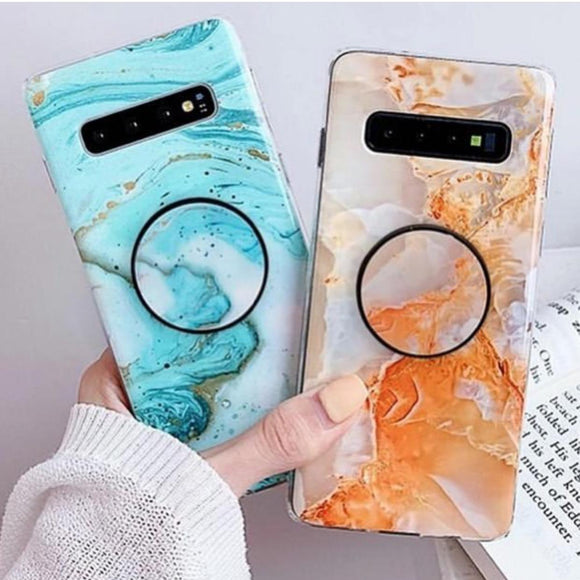The Bright Sides Of Marble Slim Case Cover With Holder - Kalakaar Indiaa