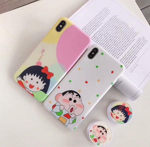 The Shinchan And Nene Slim Case Cover With Holder - Kalakaar Indiaa