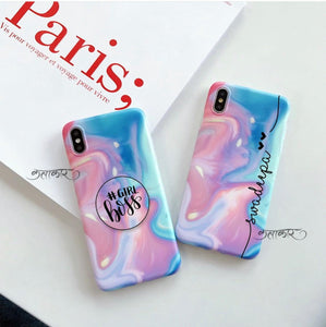 The Holographic Slim Case Cover With Girl Boss Holder - Kalakaar Indiaa