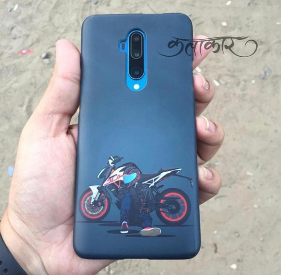 Blue Bike Girl Slim Case Cover - Kalakaar Indiaa