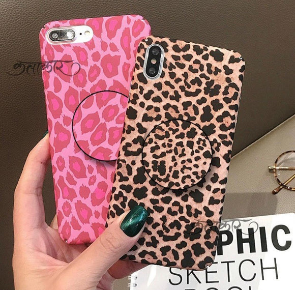 Luxury Leopard Slim Case Cover With Holder - Kalakaar Indiaa
