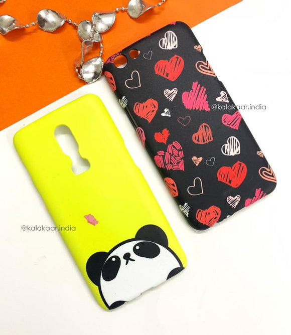 Panda Love Heart Pattern Slim Case Cover - Kalakaar Indiaa