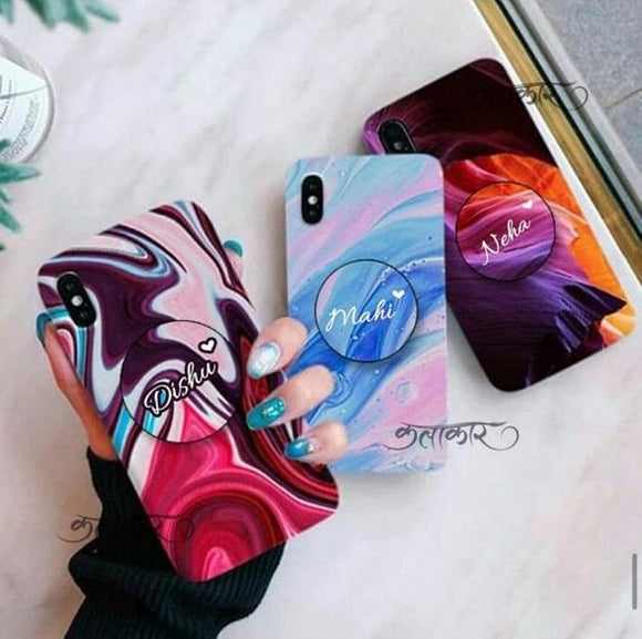 The Abstract Paint Girl Slim Case Cover With Custom Holders - Kalakaar Indiaa