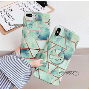 The Green Shades Of Marble Slim Case Cover - Kalakaar Indiaa