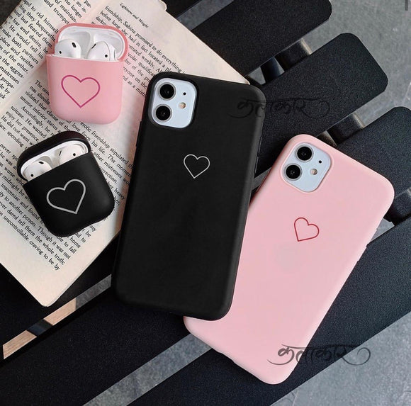 The Couple Girl Slim Case Cover With Heart Design - Kalakaar Indiaa