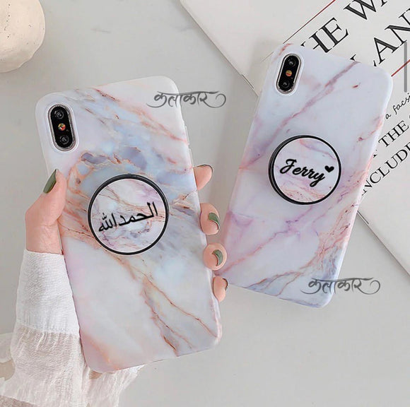 The Light Shades Of Marble Slim Case Cover With Holder - Kalakaar Indiaa
