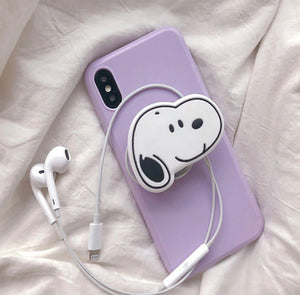 Purple Slim Case Cover With Dog Holder - Kalakaar Indiaa