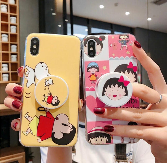 The Cartoon Slim Case Cover With Holder - Kalakaar Indiaa