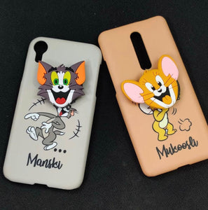 The Cute Couple Slim Case Cover With Holder - Kalakaar Indiaa