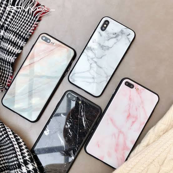 Marble Finish Glass Phone Case - Kalakaar Indiaa