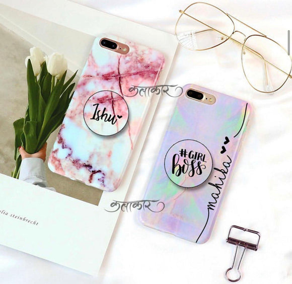 Marble Family Slim Case Cover With Holder - Kalakaar Indiaa