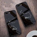 Zodiac Sign Constellation Pattern Glass Case Cover - Kalakaar Indiaa