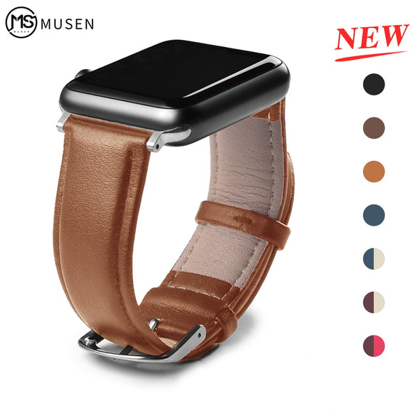 Leather Strap for Apple iWatch 42mm 38mm 44mm 40mm Series 5 4 3 2 1 - Kalakaar Indiaa