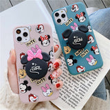 Cute Cartoon Slim Phone Case Cover With Couple Holder - Kalakaar Indiaa