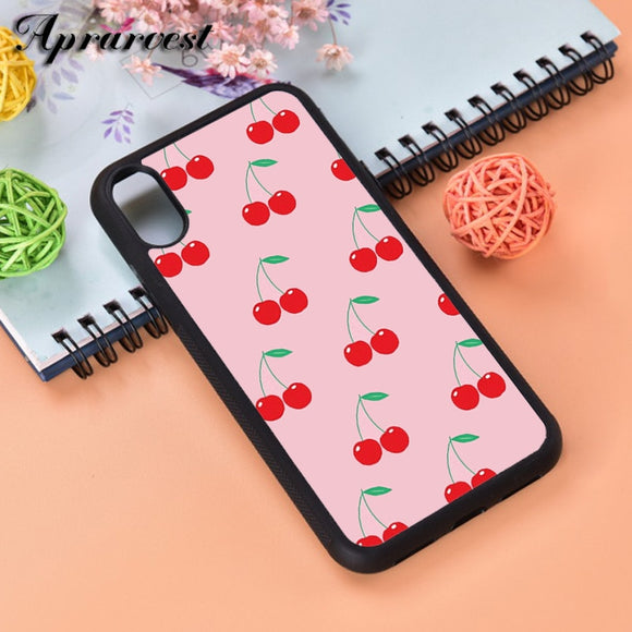 Pink Cherries Glass Case Cover - Kalakaar Indiaa