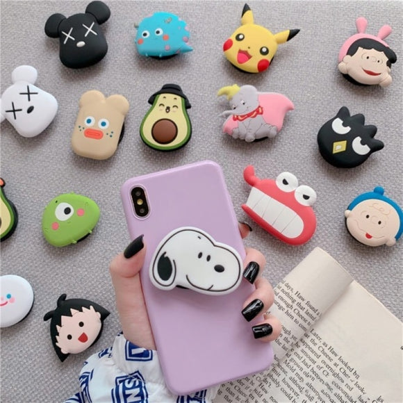 Cartoon Bear Silicone Soft Phone Holder - Kalakaar Indiaa