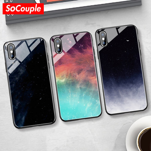 Galaxy Glass Phone Case - Kalakaar Indiaa