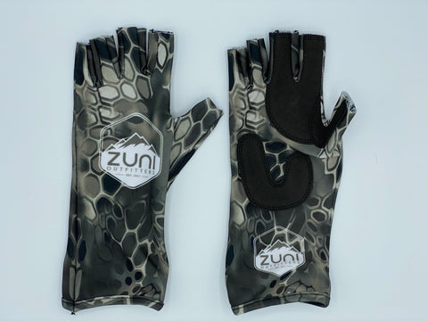 Grey/ Black Fishing Gloves