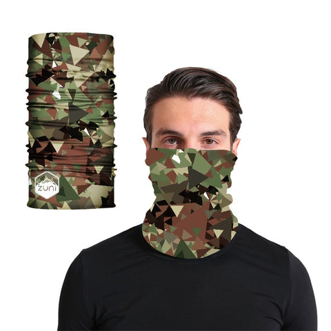 Brown/ Green modern Camo Buff