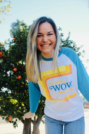 WOW Wheat long sleeve tee
