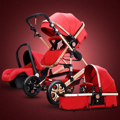 Luxury Baby Stroller 3 in 1 For Newborn