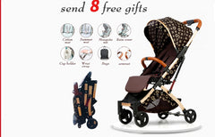 Portable Folding Shock Boarding Baby Stroller