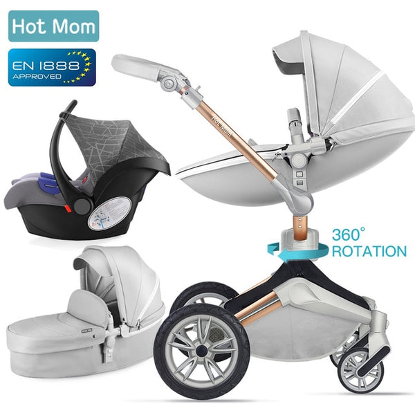 Baby Stroller 3 in 1 Carriage with Bassinet