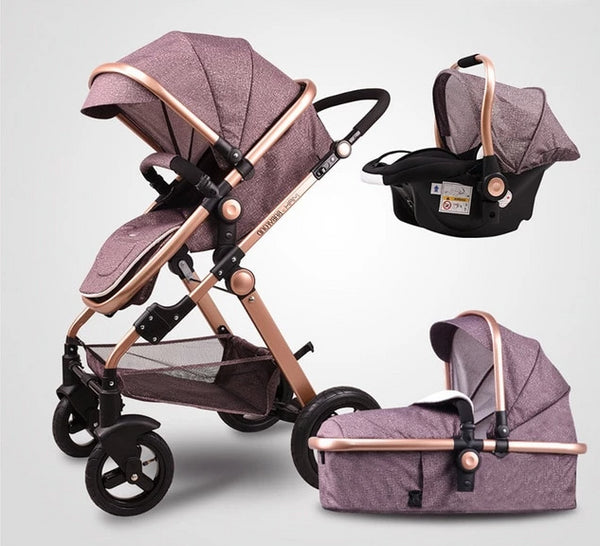 Multi-Color Babyfond 3 in 1 Baby Stroller
