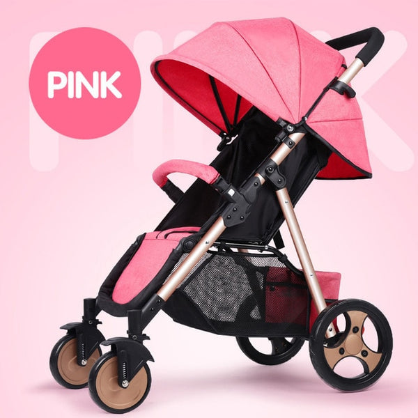 Pink Baby Stroller Lightweight and Foldable