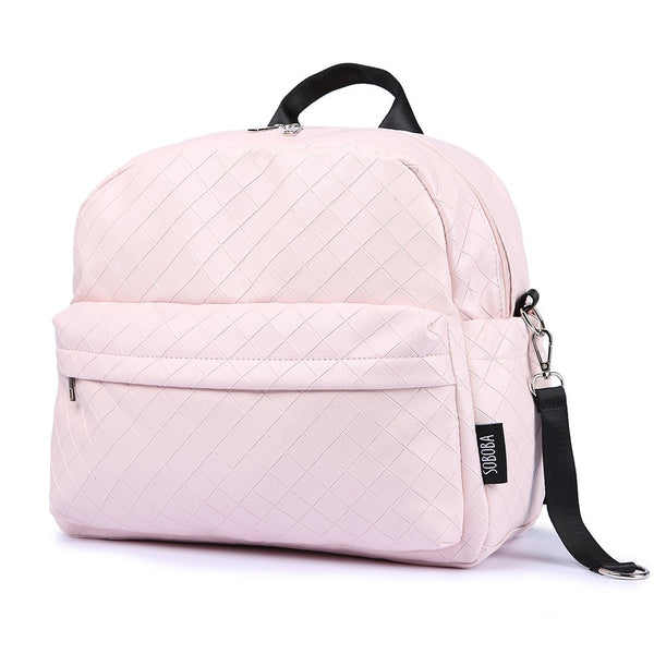 Soboba Fashionable Plaid Pink Diaper Bag