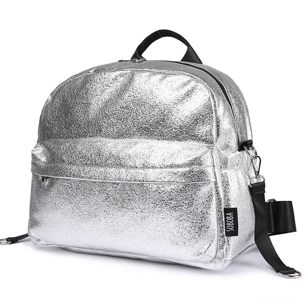 Soboba Textured Silver Travelling Diaper Bag