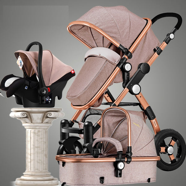 Baby Stroller 3 in 1 Luxury Umbrella