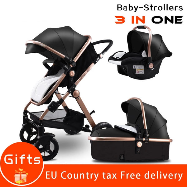 Golden Baby Stroller High Landscape