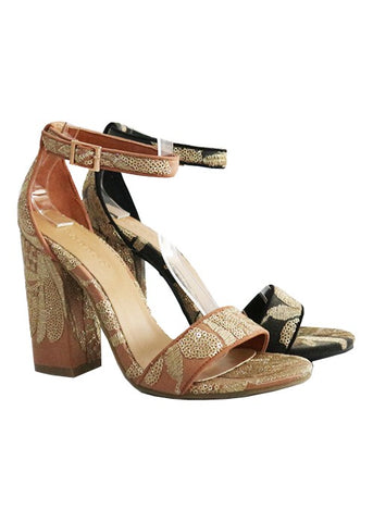 FINAL SALE The Portia Embroidered & Sequined Sandal