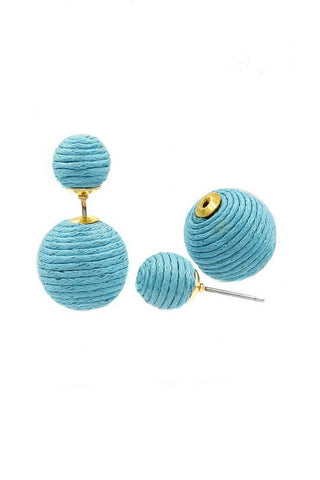 The Corded Barbell Earrings