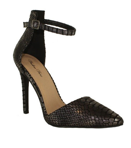 FINAL SALE The Nagini Ankle Strap Heel