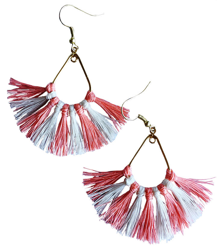 The Tasseled Fan Earrings