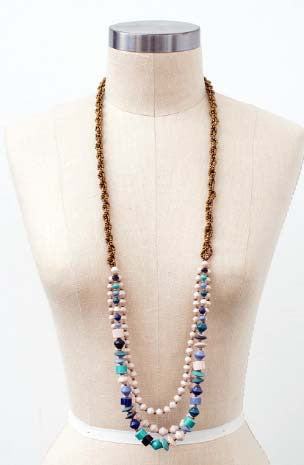 FINAL SALE The Mercer Medley Long Beaded Necklace
