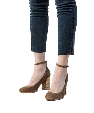 The Kylie Suede Stacked Heel