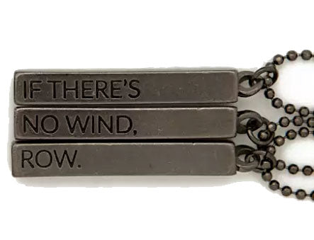 The No Wind...Row... Cube Pendant Necklace