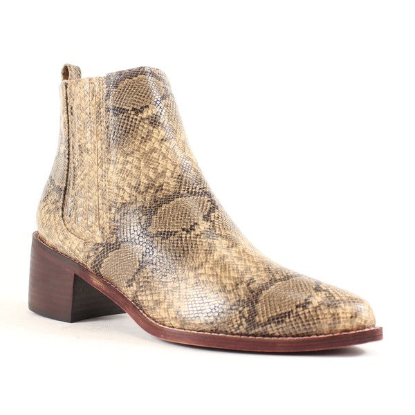 FINAL SALE The Hughes Snakeskin Bootie
