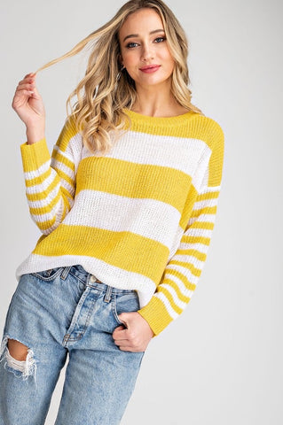 FINAL SALE The Nia Striped Sweater