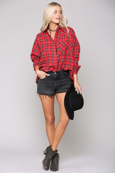FINAL SALE Tartan Plaid Flannel