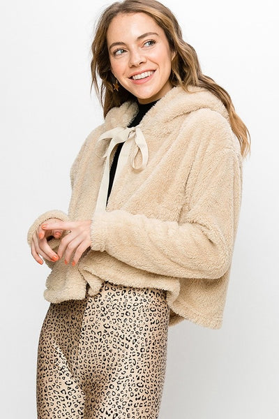FINAL SALE Teddy Poncho Coat